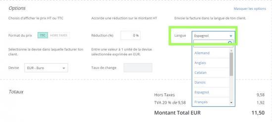 modele facture autoliquidation 2018