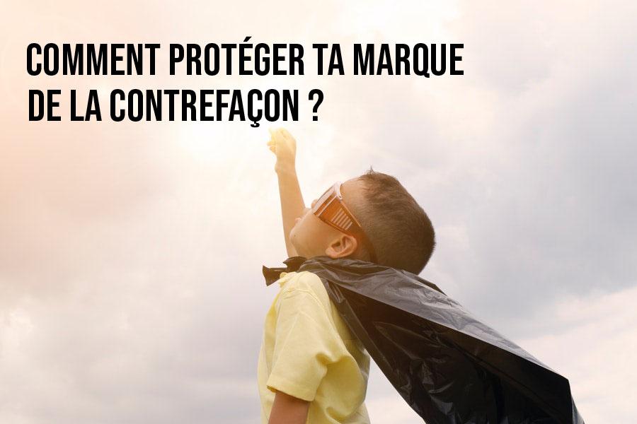 """Image montrant un enfant en super héro pour l'article """"comment protéger sa marque de la contrefaçon ? Le cas des entreprises"""""""